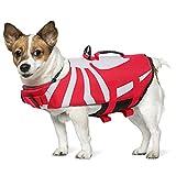 PUMYPOREITY Chaleco Salvavidas para Perros Mascotas Chaqueta Chaleco de Seguridad Perro Perrito Ropa de Baño para Perros pequeños, medianos, Grandes (Rojo, M)