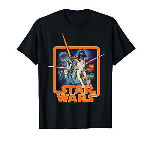 Star Wars Classic A New Hope Movie Badge Maglietta