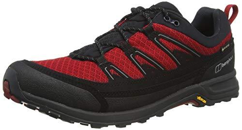 Berghaus Explor Ft Active GTX Tech Shoe, Chaussures de Randonnée Basses Homme, Multicolore (Jet Black/Haute Red Dr1), 44.5 EU