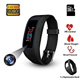 Mini Spy Camera Bracelet, Touchscreen 1080P Hidden Camera Wristband, Invisible Lens Hole Spy Cam SmartWatch, Security Surveillance DV Activity Tracker with Bluetooth 4.0-32GB