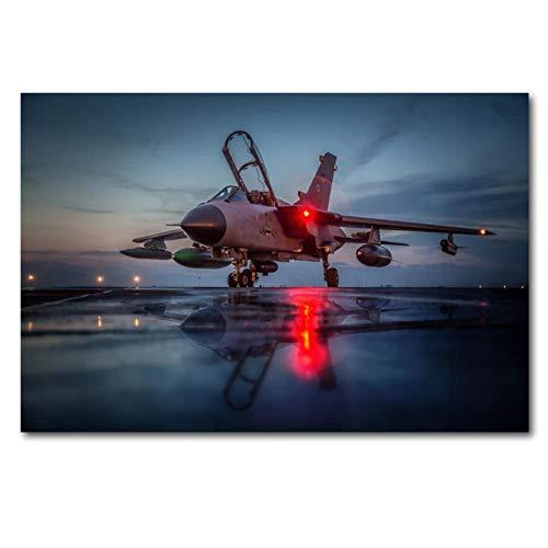 Ignite Wander Impresiones en Lienzo Avión Jet Panavia Tornado Warplane Poster Arte de la Pared Pintura en Lienzo para la decoración de la Sala de Estar -50x75 cm Sin Marco 1PCS