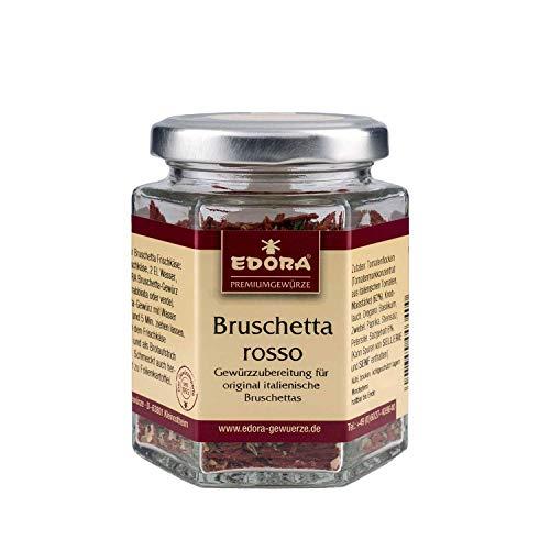 Premium Qualität Gewürz EDORA Schraubglas Bruschetta rosso italienische Italien Gewürzzubereitung 50 Gramm