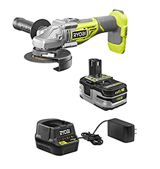 RYOBI 18-Volt Brushless 4-1/2 in Cut-Off Tool/Angle Grinder Kit with Battery and Charger  Non-Retail Packaging Bulk Packaged