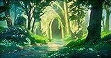 HOOBBI Puzzle 1000 Piezas Piezas Puzzle Rompecabezas Desafía al Cerebro para el Aprendizaje a Gran Escala / Templo del Bosque de Zelda niños y Adultos educativos Juegos de