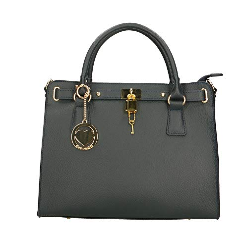 Chicca Borse Bag Borsa a Mano in Pelle Made in Italy 34x29x13 cm