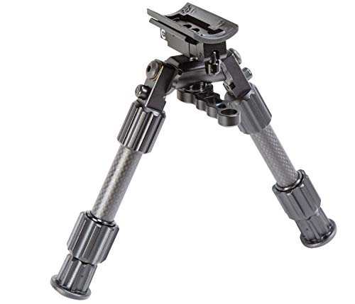 """Caldwell Accumax Premium Carbon Fiber Sling Swivel Stud Bipod with Twist Lock Quick-Deployment Legs for Long Gun Rifle for Tactical Shooting Range and Sport, 9""""-13"""""""