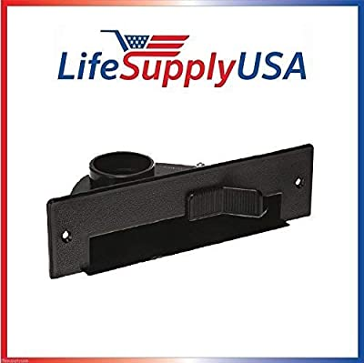 LifeSupplyUSA New Central VAC PAN Vacuum Automatic Dustpan SWEEP INLET VALVE in BLACK by