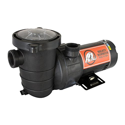 1.5 Horsepower Above Ground Pool Pump with Cord - Mighty Mammoth High Performance Motor for Clean Swimming Pool Water - 1.5 HP - 110V-120V - 60HZ
