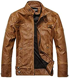 Autumn Winter Fashion Trendy Coat Zip Up Jacket Men's Faux Leather Motorcycle Jacket Plus Velvet Warm Comfy Handsome Casua...