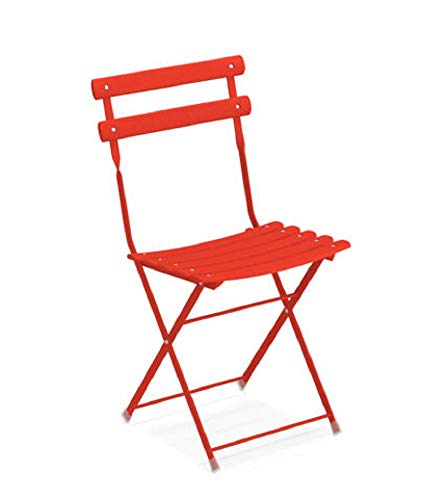 emu Arc En Ciel Folding Chair Colour 50 Red Orange (Set of 2)