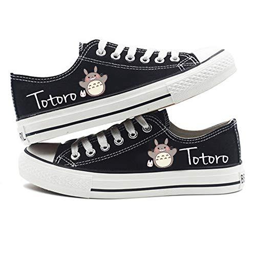 NLJ-lug My Neighbor Totoro Animierte Anime Cosplay Cos Leinwand Schuhe Bequeme Freizeitschuhe Männer,43