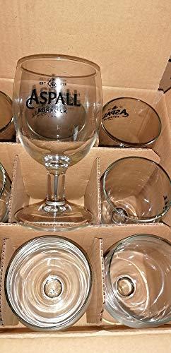 Lote de 6 vasos de cerveza Aspall de 25 cl – RARE