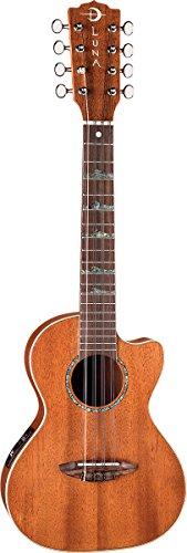 Luna Guitars UKEHTT8 - Ukelele tenor de 8 cuerdas, acabado satinado