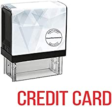StampExpression - Credit Card Office Self Inking Rubber Stamp - Red Ink (A-5688)