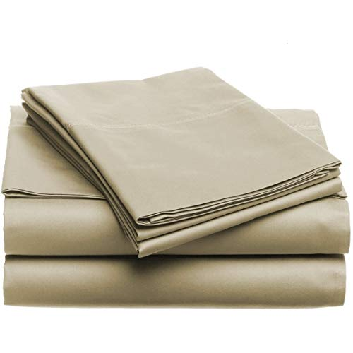 Luxury Home 4-Piece Set Ultra Soft 1800 Series Bamboo Bed Sheets Machine Wash, Hand Wash Khaki Queen Deep Pocket, Extra Deep Pocket