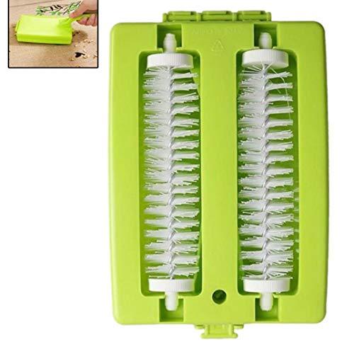 Bontand Doble Cepillo Handheld Principales Tabla Alfombra Cepillo de plástico Sweeper Crumb Herramienta de la Suciedad del Rodillo Limpiador (Color al Azar)
