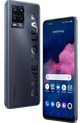 realme 8 Pro Smartphone 8+128GB, Processore Qualcomm Snapdragon 720G, Ultra Quad Fotocamera da 108MP, Display Super AMOLED da 6,4 inch, Ricarica SuperDart da 50W, 4500mAh, Dual Sim, NFC, Nero Infinito