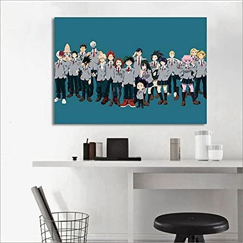 GBHNJ Mural 1 Piezas Pintura En Lienzo,1 Piezas Cuadros En Lienzos Animación Cine Y Televisión My Her Academ Modular Moderna 1 Piezas,Mural Pared Salon 3D,Decorativo Pared,Listo para Colgar, Gift XXL