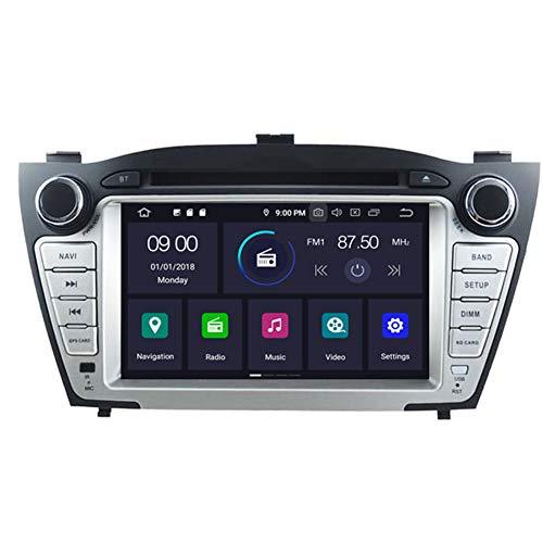 Autosion Android 10 Lecteur DVD de Voiture GPS Radio Head Unit Navi stéréo multimédia WiFi pour Hyundai Tucson ix35 2009 2010 2011 2012 2013 2014 2015 Support Commande au Volant