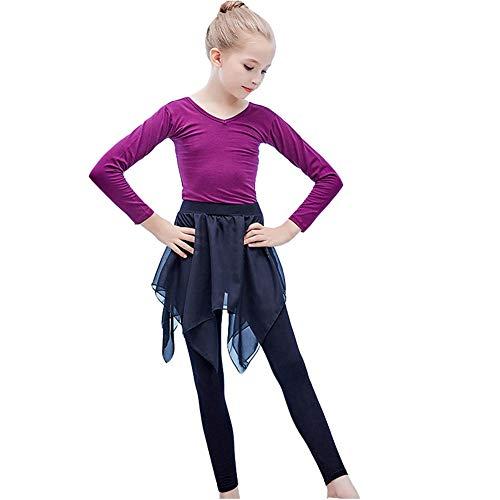 KSITH Children's Dance Suit Meisje Ballet Rok Meisje Praktijk Kleding Eendelig Katoen Kostuum, Zwart