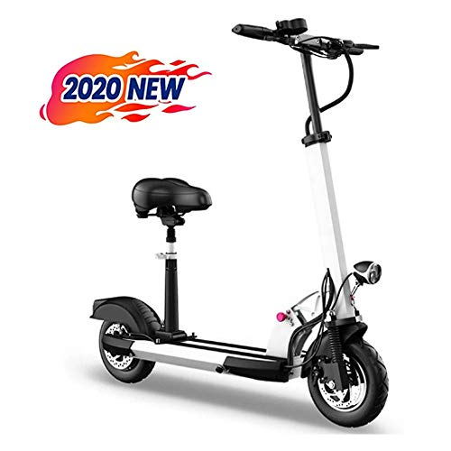 electric bicycle elektrische scooter volwassenen opvouwbare elektrische scooter met 10 inch banden met LED-licht en HD-display White-48v500w15ah(55-60km)