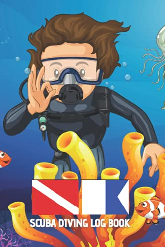 SCUBA DIVING LOGBOOK: Detailed dive log book for young divers | Up to 120 dives | Creative gift for teenagers or kids.