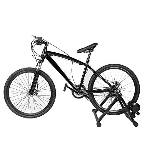 WJIN Bicicleta del Instructor de la Bici, Soporte magnético de la Bicicleta portátil del Ejercicio del Instructor Plegable Interior de la Bicicleta