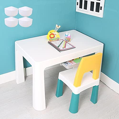 Juego de mesa y silla para niños, mesa elevable, mesa y silla de estudio para niños de plástico doméstico, con cajones dobles, cómoda mesa de juego antideslizante, estable y duradera/C / 78x50