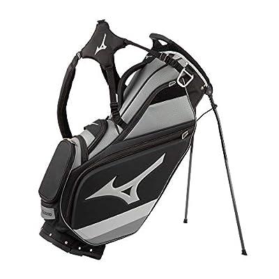 Mizuno 2021 Tour 14-Way Stand Bag, Black-Charcoal