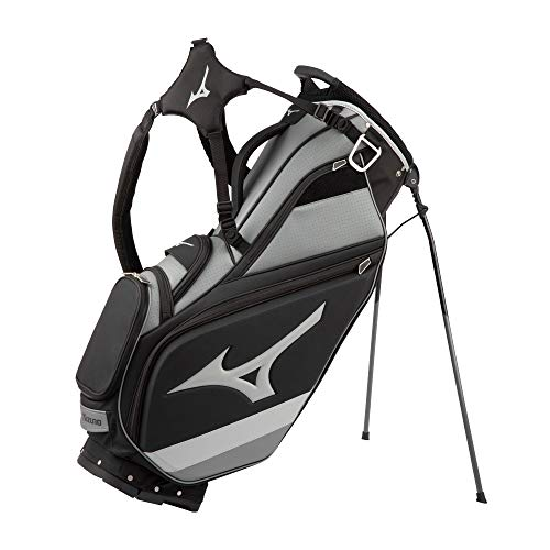 Mizuno 2021 Tour 6-Way Stand Bag, Black-Charcoal