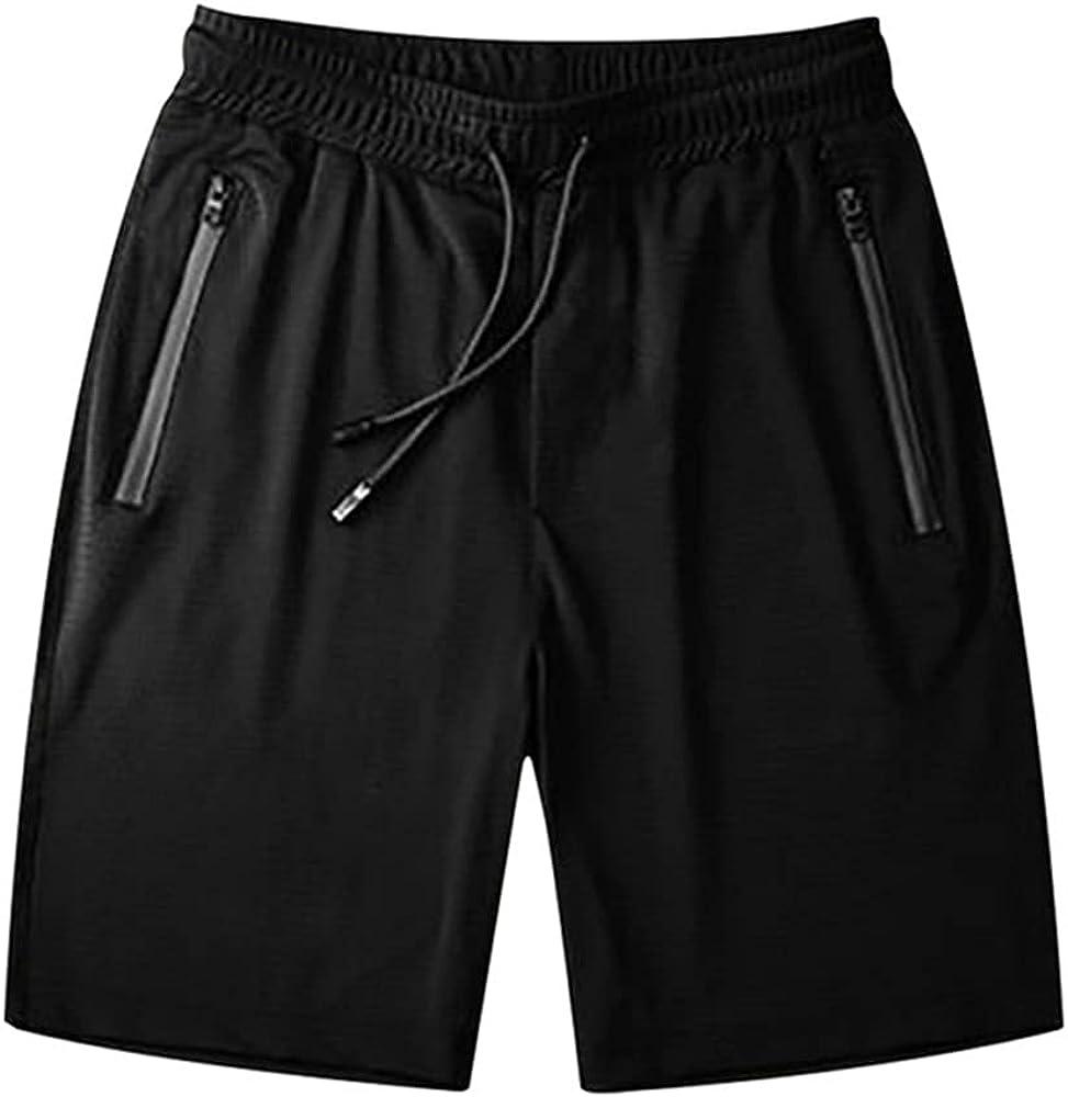 Summer Men's Casual Quick-ing Shorts Ice Silk Five-Point Pants Men's Zipper