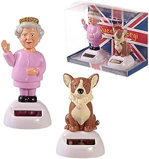 Puckator Solar Pal Queen and Corgi Toy - Fun Novelty Dancing Toy - UK - England - Car Desktop Office Window Sill Toy