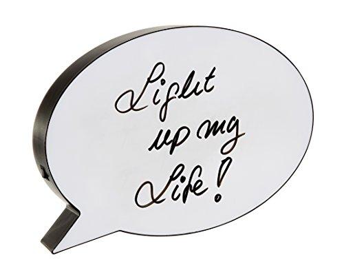 """LED Lightbox""""Sprechblase"""" mit 1 Stift zum beschriften ausgefallen Leuchtschild Leuchtbox Lichtbox Whiteboard Geschenkbox Leuchtbild selbt beschriften Kino Box selber gestalten Memoboard"""