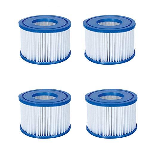 Packung Mit 2/4 Filterpatronen Für Pool, Spa Ersatz Aufblasbarer Poolreinigungsfilter Zubehör, Einfache Installation Hot Tub Antimicrobial Filter Cartridge (4PC)