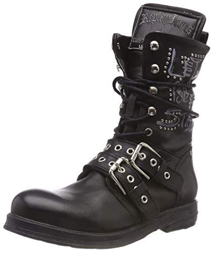 Replay Damen DUNYA Biker Boots, Schwarz (Black 3), 36 EU