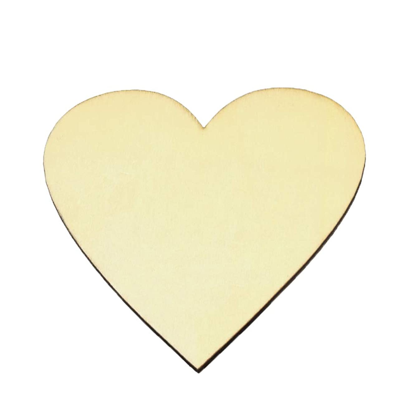 Unfinished Wood Cutout Heart-Shaped Wood Pieces for Wooden Craft DIY Projects, Signs, Wedding Decoration (10)