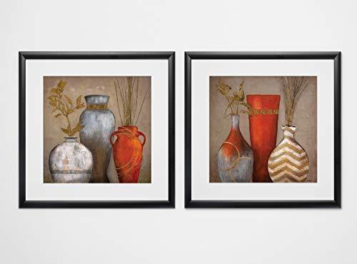 WEXFORD HOME Mia Casa Portofino-2 Piece Set Art Print, 16X16