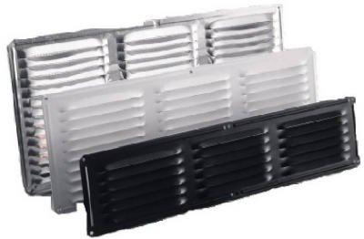 Air Vent Ventilación inferior de 40,6 cm x 20,3 cm de superficie libre de red de 15 x 7 pulgadas de apertura de aluminio