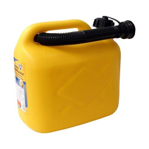 Bidón de gasolina de 5 Litros, PVC amarillo, aprobado por la ONU