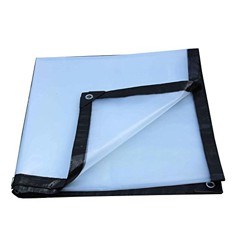 ZHANWEI Bâche De Protection Couverture Transparent Imperméable Isolation Épaissir Plastique Tissu pour Plante Fleurs Serre, Taille Personnalisable (Couleur : Clair, Taille : 4x6m)