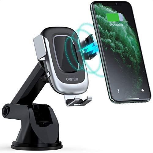 15W Wireless Charger Auto,CHOETECH 15W/10W/7.5W Kfz Induktive Ladestation mit automatischer Klemmung Qi Ladestation Auto für iPhone SE/11/11 Pro/XS/XS Max/XR/X/8,Samsung Galaxy Note 10/9/8,S20/S10/S9