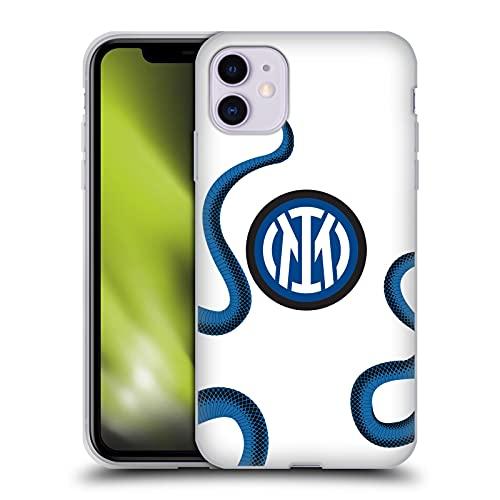 Head Case Designs Licenciado Oficialmente Inter Milan Away 2021/22 Crest Kit Carcasa de Gel de Silicona Compatible con Apple iPhone 11
