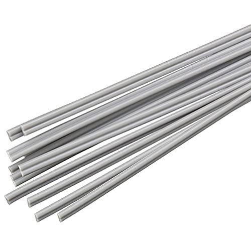 SHHMA Plástico Varillas De Soldadura Material PP/PE/PVC/PPR/ABS, Adecuado para Varias Soldaduras, 10 Piezas,Gris,PVC