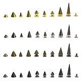 Remaches en forma de cono, de puntas, de picos punk para chaqueta de cuero., dorado, 9.5mm x 6mm
