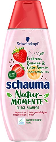 SCHWARZKOPF SCHAUMA Natur-Momente Shampoo Haar-Smoothie Erdbeere, Banane & Chia Samen, 20er Pack (20 x 400 ml)