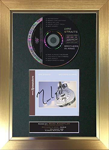 The Gift Room #73 Dire Straits Brothers In Arms - Álbum de CD Firmado con Tapa de Soporte para CD (A4)