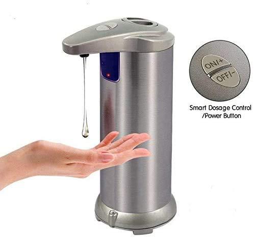 Zeepdispenser, automatische contactloze zeepdispenser, infrarood bewegingssensor roestvrij stalen plaat Vloeibare luidspreker Auto zeep dispenser voor handen
