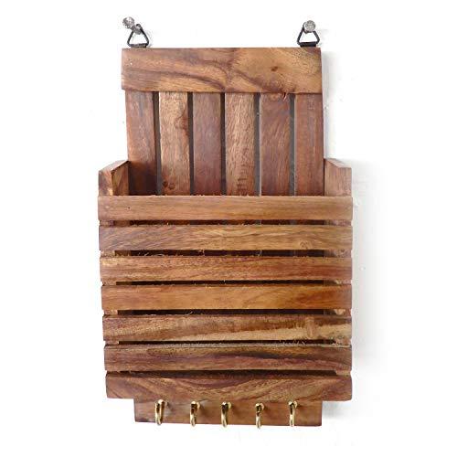 Portachiavi in legno con portachiavi, design a strisce con portachiavi a 5 chiavi, portachiavi in legno, portachiavi, giorno di Pasqua/festa della mamma/regalo del venerdì santo
