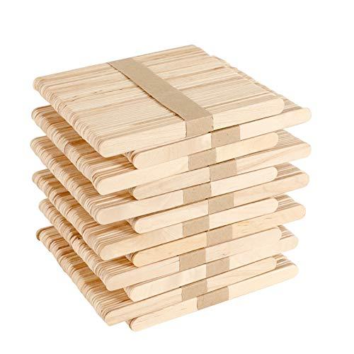 GoMaihe 600 Stück Eisstiele aus Holz, Holzspatel Basteln, Holzstäbchen zum Basteln Umrühren Holzstiele für Eis Holzstab Stiele, Holzspatel Wachs Holzspachtel DIY Bastelhölzer Handwerk, MEHRWEG