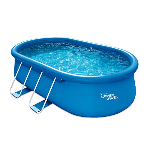 Summer Waves 15ft x 42in Quick Set Oval Above Ground Swimming Pool
